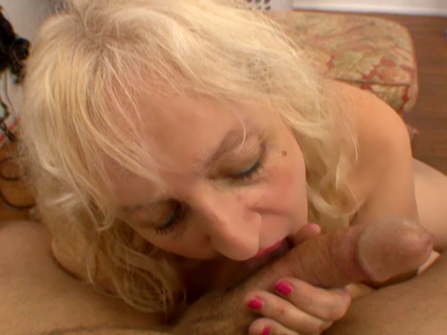 experienced milf gives a blowjob