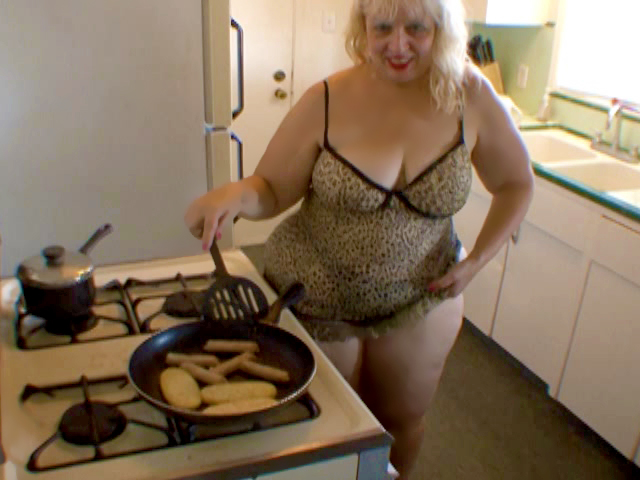 BBW Milf cooking and …